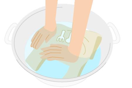 手洗いの洗濯表示がついているも