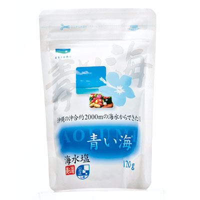 沖縄の海水塩 青い海 120g ¥220(青い海)