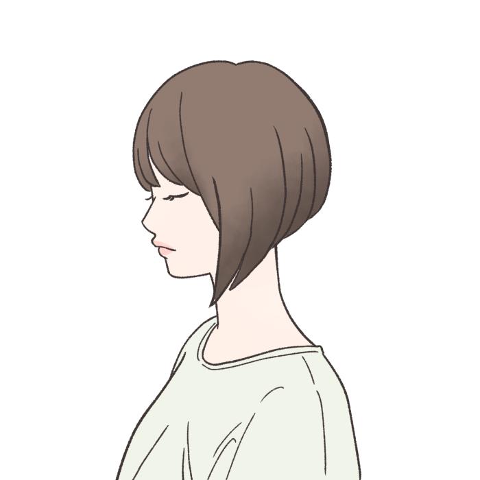 ●毛先が重くてAラインのシルエ