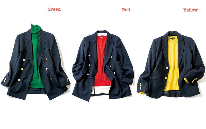 [右]紺ジャケットに似合うのは