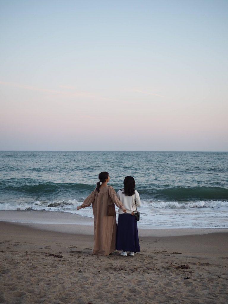 太平洋を望む海辺の宿で、ほっこ