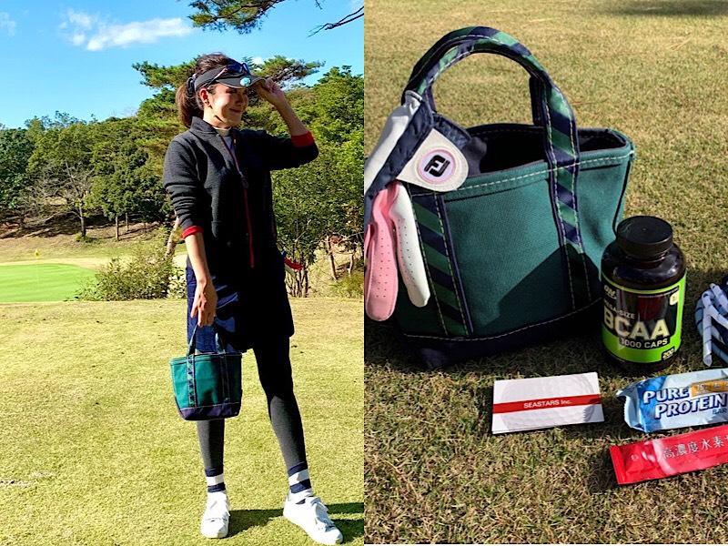 のぞき見♡美女ゴルファーの「カートバッグ」の中身【濱口眞夕子さん】