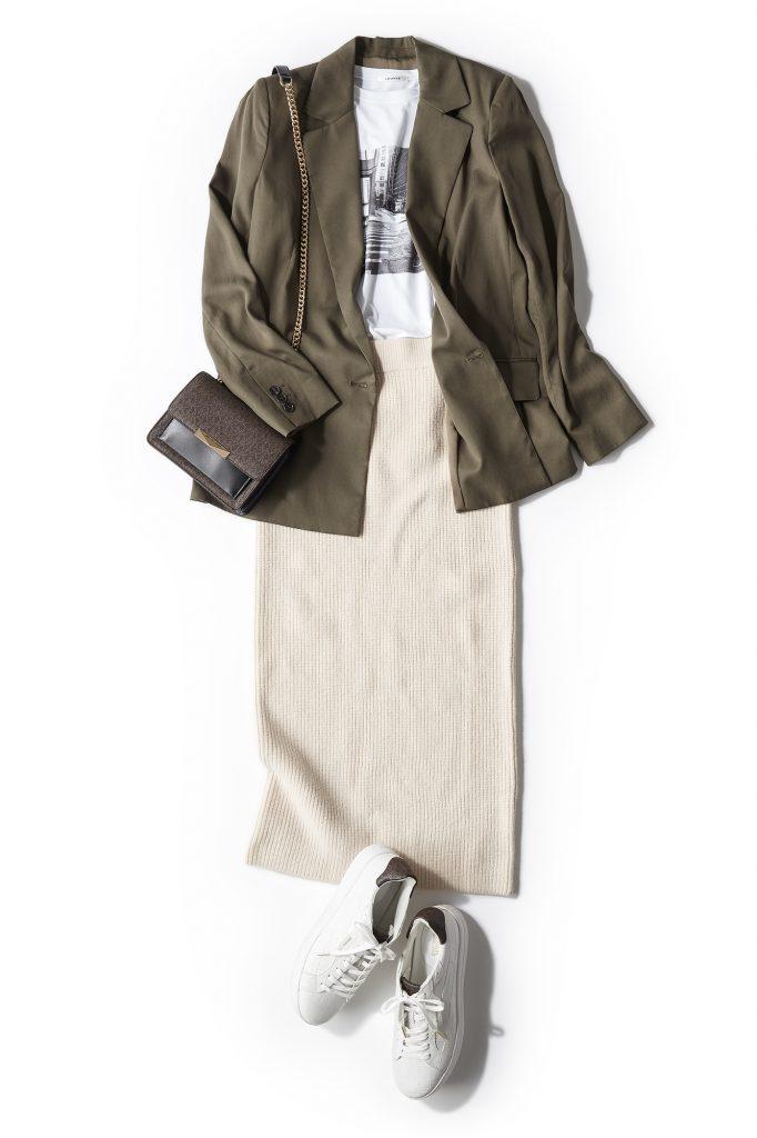 ジャケット×タイトスカートの組