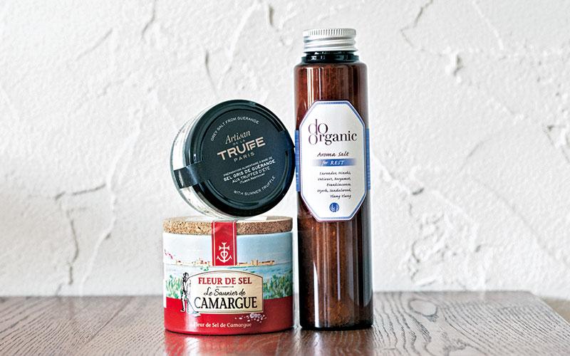 フランスの塩がキッチンの定番バスソルトは気分で使い分けます