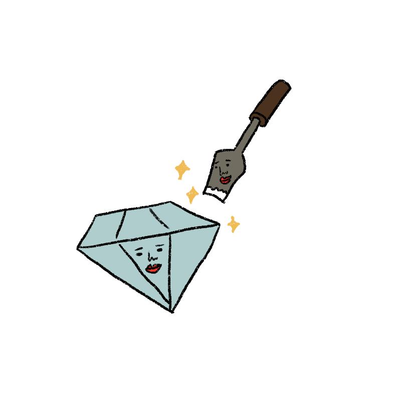 同じ属性の鉄星人とダイヤモンド
