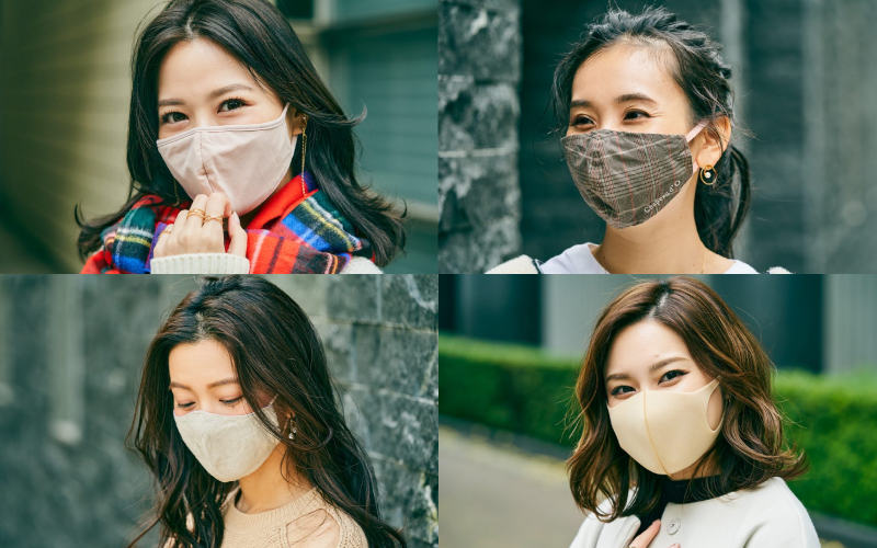 アラサーマスク美女4名の「スカート&ワンピコーデ」【2020年12月】