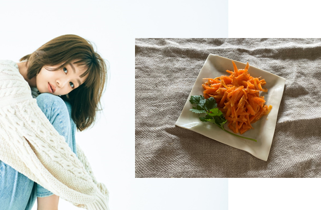 モデル千國めぐみさんの体に優しい「薬膳レシピ」【五香粉のスパイシーラペ】