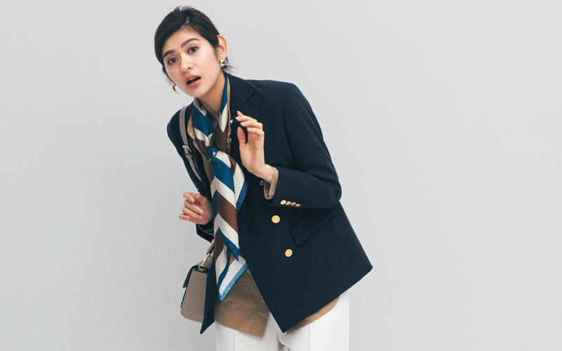 ジャケット&白パンで清潔感のあるコーデ【今日の着回しDiary】