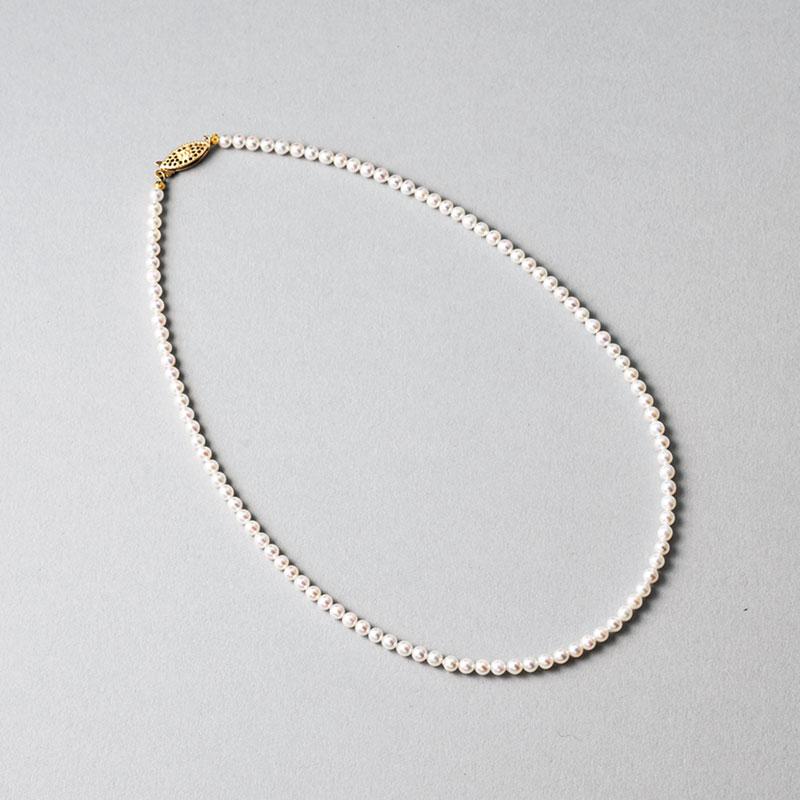 ネックレス〈YG×アコヤ真珠〉¥84,500