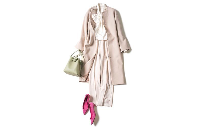 ワントーンコーデはピンクで大人可愛く【今日の着回しDiary】