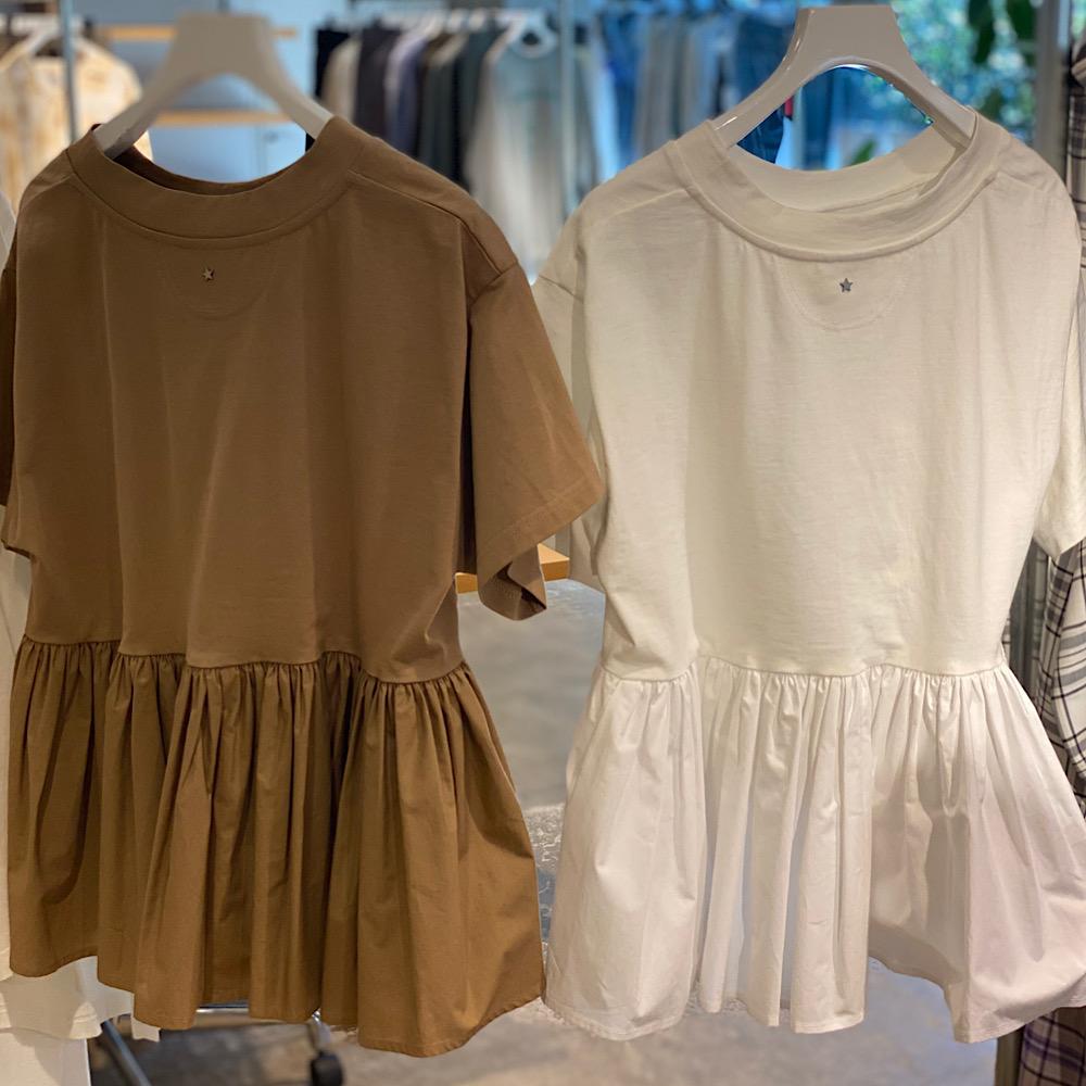 オーガンジー素材の「透けシャツ