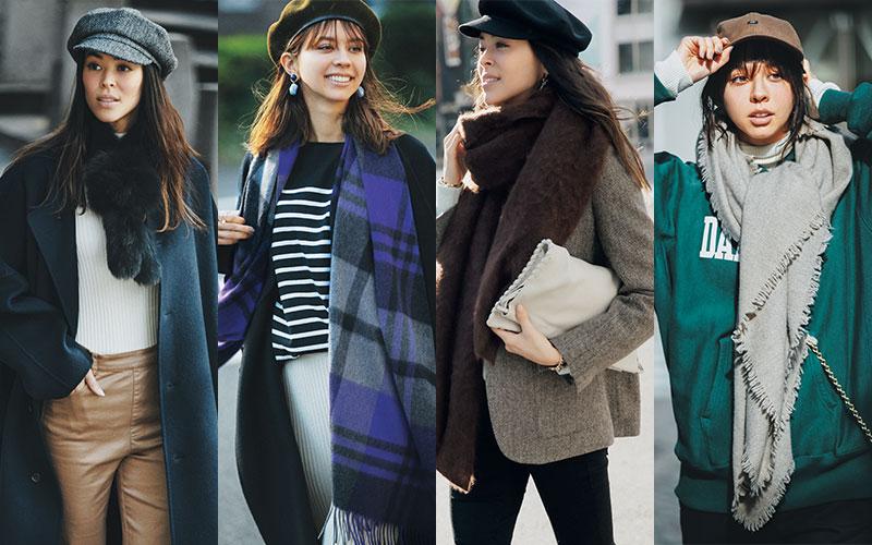 アラサー女子の「帽子&巻き物」大人可愛い選び方4つ