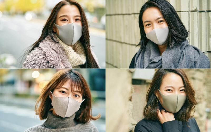 アラサーマスク美女の冬コーデ4選「グレーマスク編」【2021年1月】