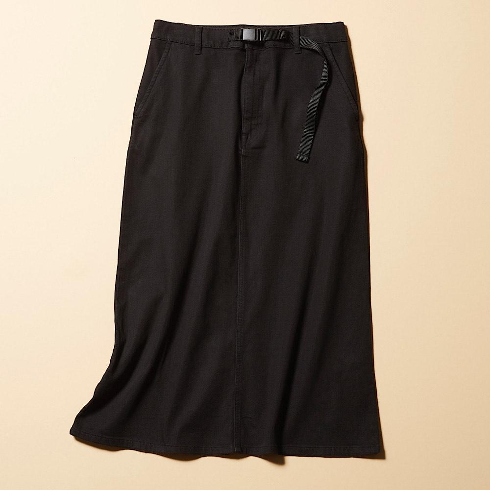 ニットコーデュロイスカート 黒