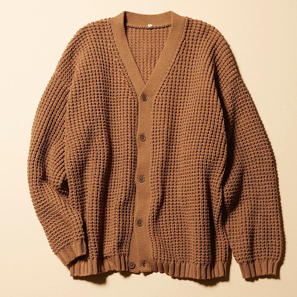空気を含んだ糸で編んだワッフル