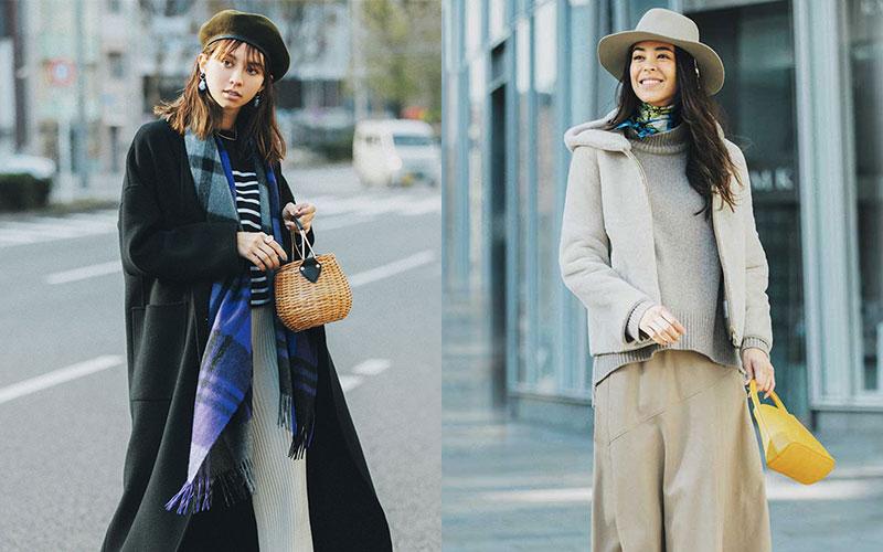 アラサー女子に2021年おすすめの「帽子&巻き物」2つ