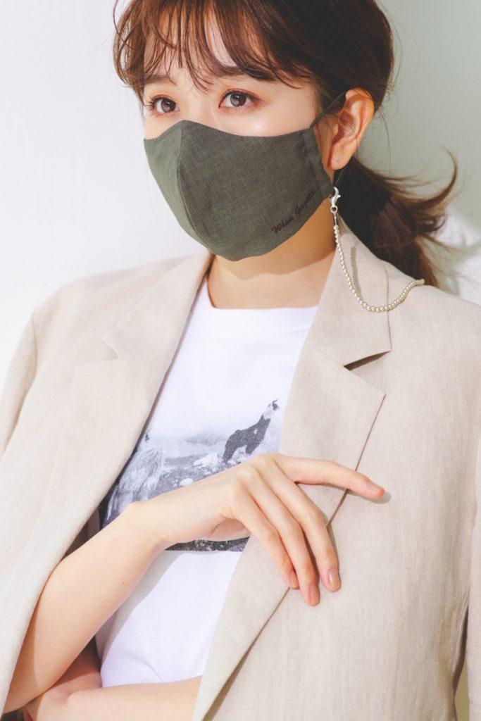 シンプルなマスクチェーンはどん
