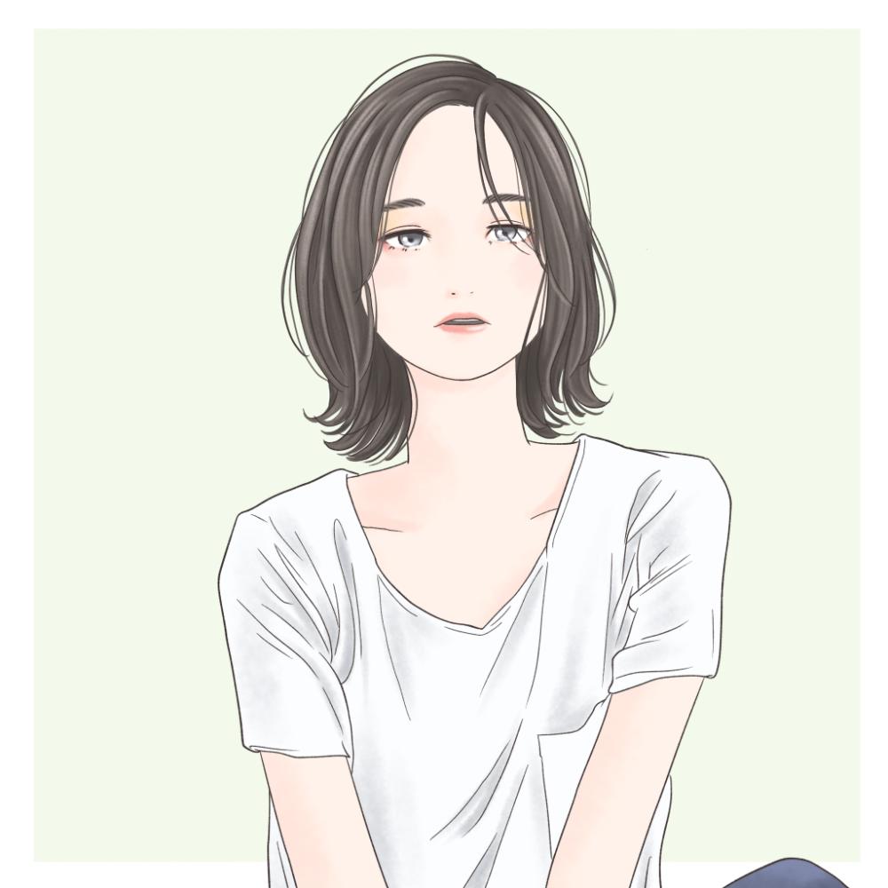 ●前髪を分厚くして顔の面積を減