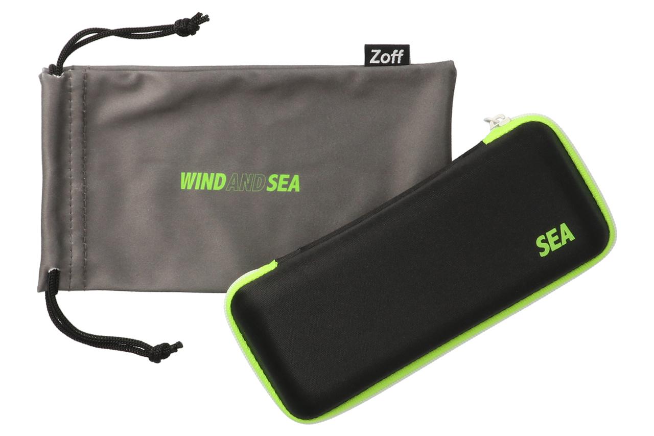 WIND AND SEAのロゴ入りオリジナルケースとメガネ拭きつきです
