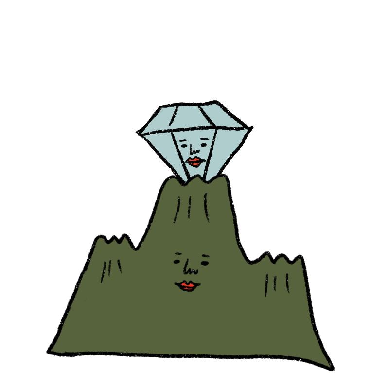 開放的なダイヤモンド星人。のび