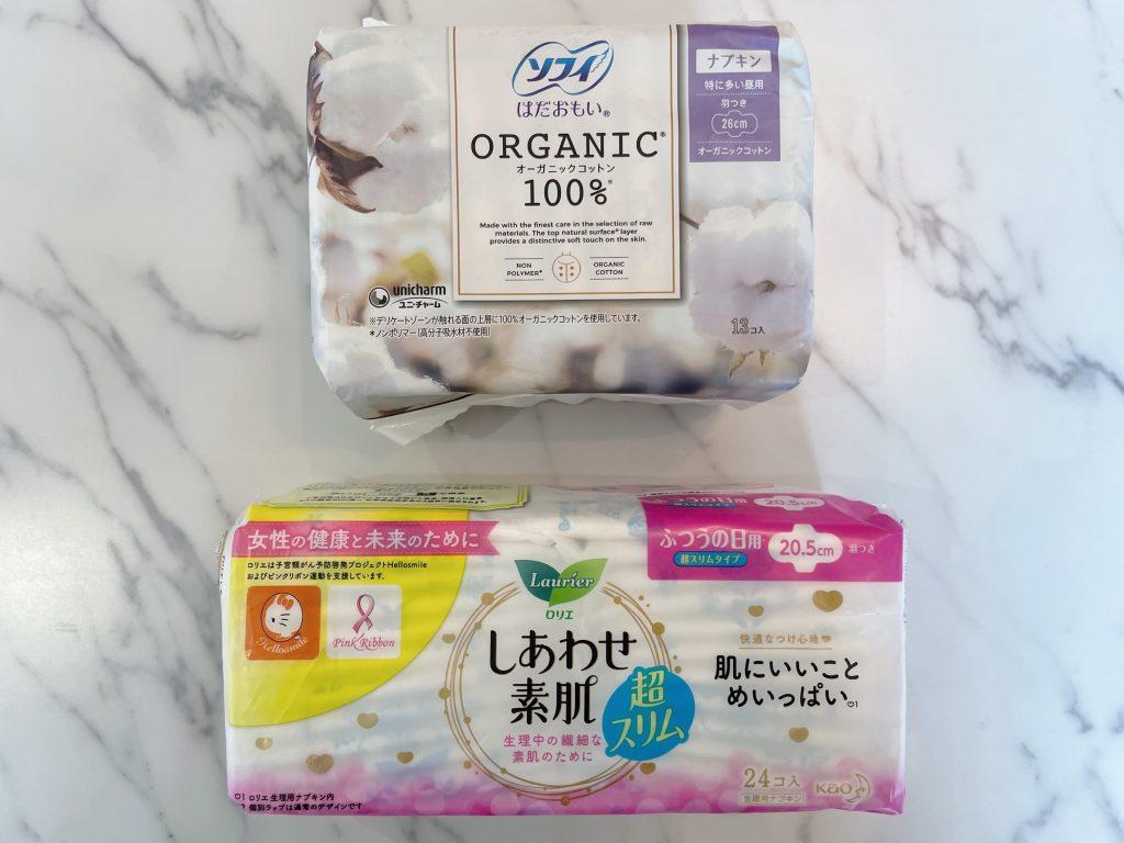 他国の生理用品と日本の生理用品