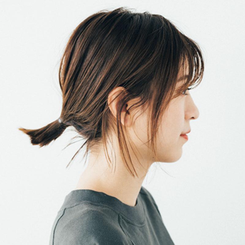 □髪質:やわらかい □髪の量: