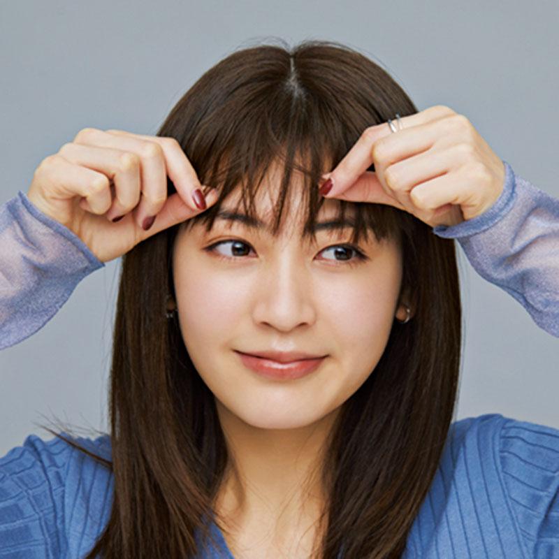 A.「前髪アレンジに使いやすい