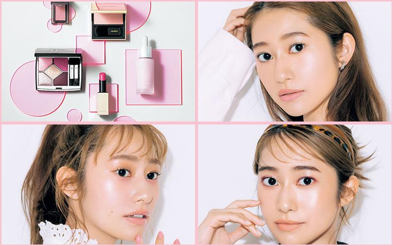 桜井玲香と、この春おすすめの「大人ピンクメーク」3選