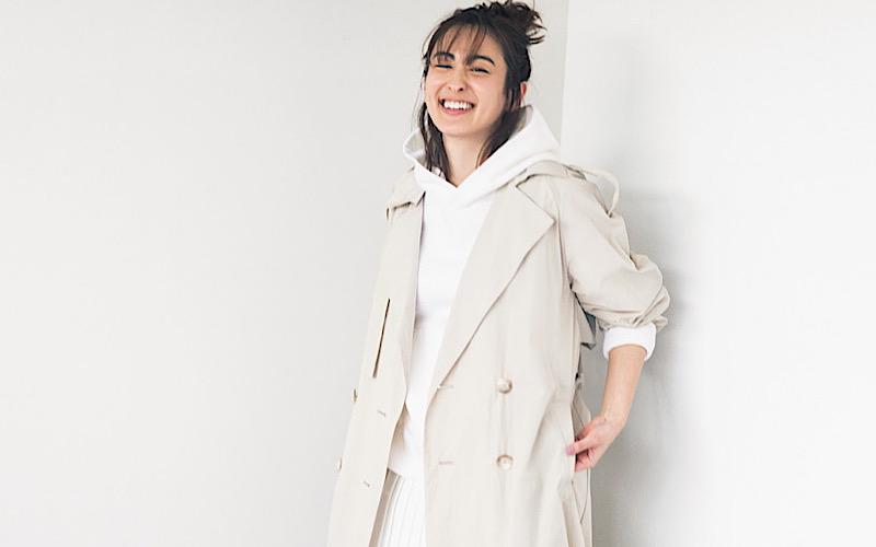 【今日の服装】普通に見えない「白フーディ」の着こなしは?【アラサー女子】
