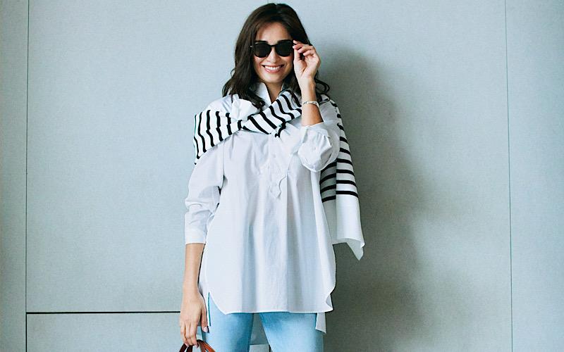 【今日の服装】「白シャツ」をカジュアルに着るなら?【アラサー女子】