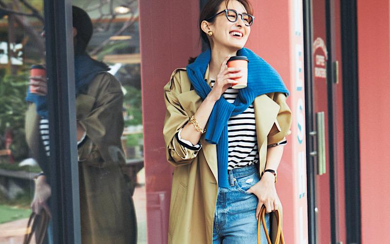 【今日の服装】脱・マンネリの「トレンチ×デニム」コーデって?【アラサー女子】