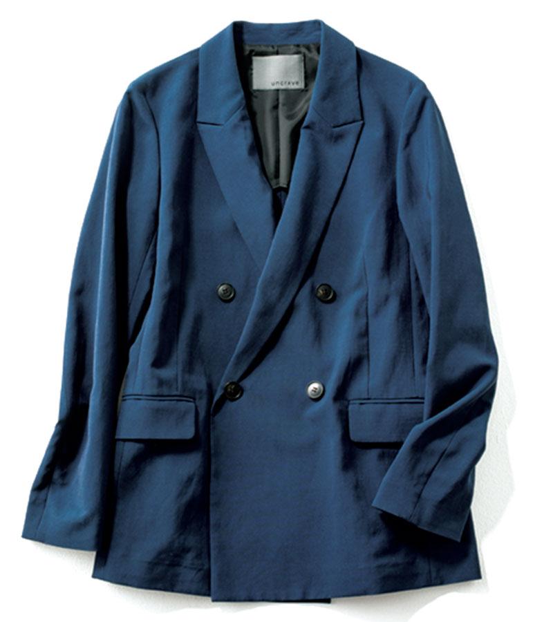【6】ジャケット 肩が落ちていないビッグサイズが嬉しい。¥20,900(アンクレイヴ/オンワード樫山)