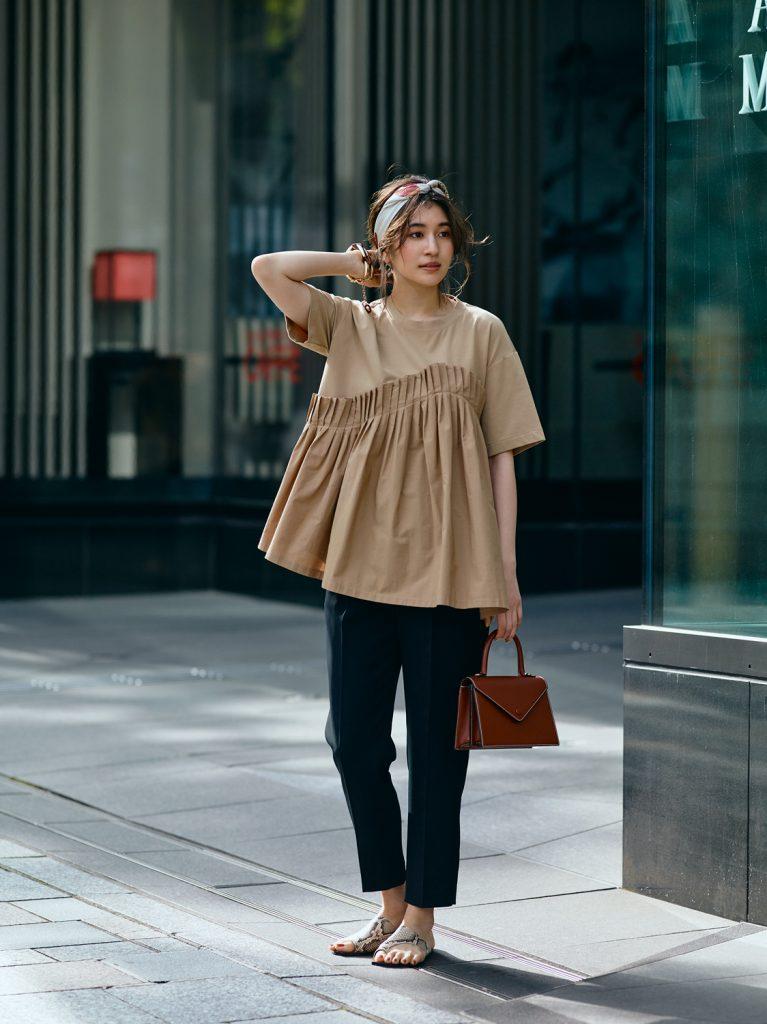 Tシャツ×パンツのワン・ツーコ