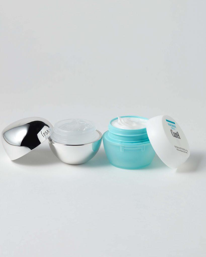 化粧水と乳液は、たっぷり使える