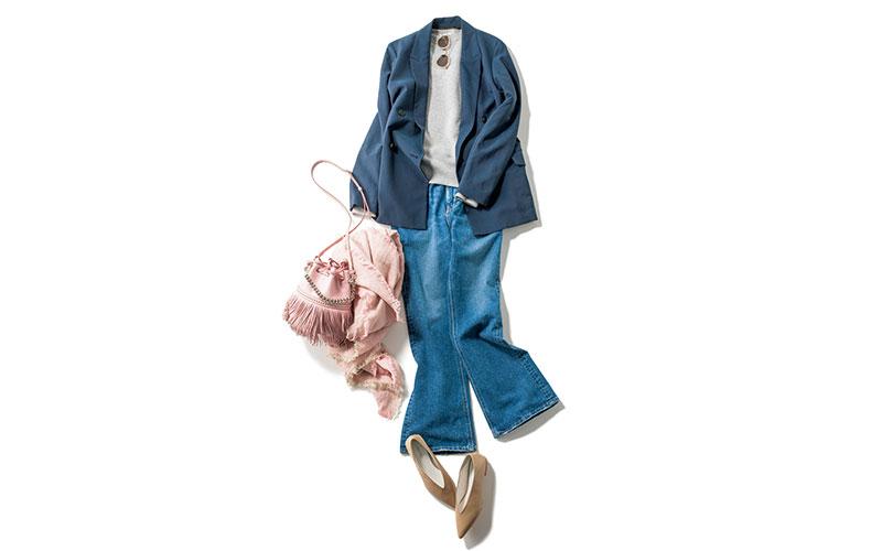 身長が低い人の「ジャケットコーデ」のコツ【今日の着回しDiary】
