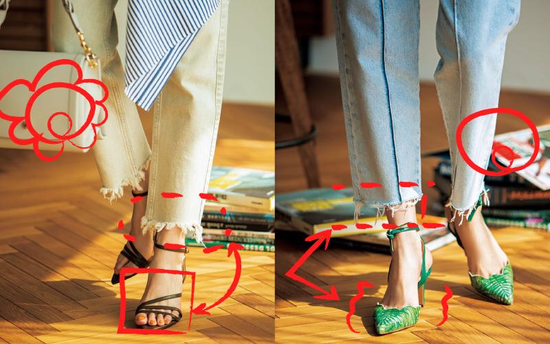 人気の「切りっぱなしデニム」相性が悪くない靴2つ