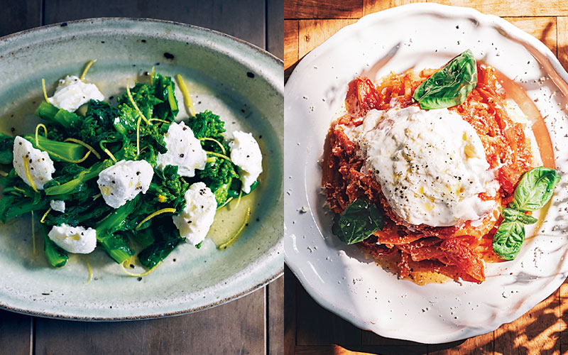 お家で簡単「チーズ料理」2選【トマトパスタ&チーズと菜の花のおひたし】