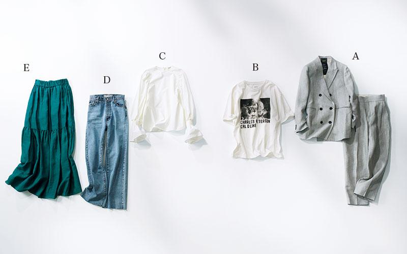 大人女子の夏コーデ6選【「5つの服」だけで着回し実例】