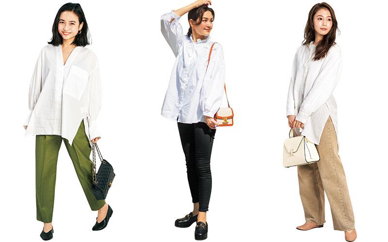 アラサー女子の「白シャツ」おすすめコーデ5選