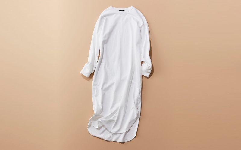 大人も着られるきちんと感!ATONのTシャツワンピ【カジュアル名品】