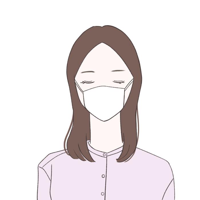 ●短めの前髪はマスクと相性がよ