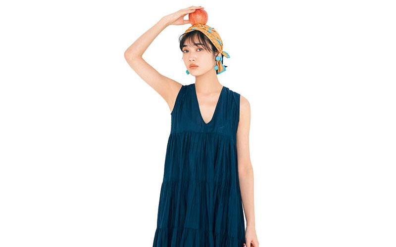 アラサー女子の「涼しげワンピコーデ」【今日の着回しDiary】
