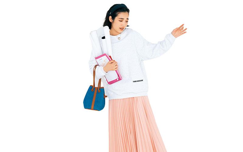 アラサー女子の「プリーツスカートコーデ」【今日の着回しDiary】