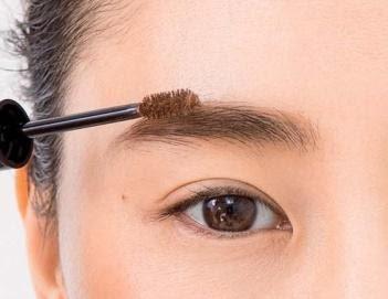 眉頭の毛は、鼻筋につながるよう