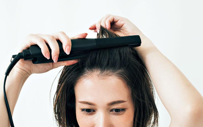 髪を固めずにまとまりが作れます