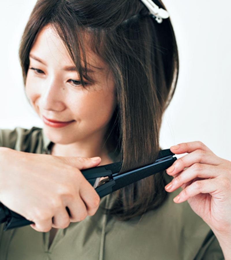 Aアイロンの熱から髪を守るカー