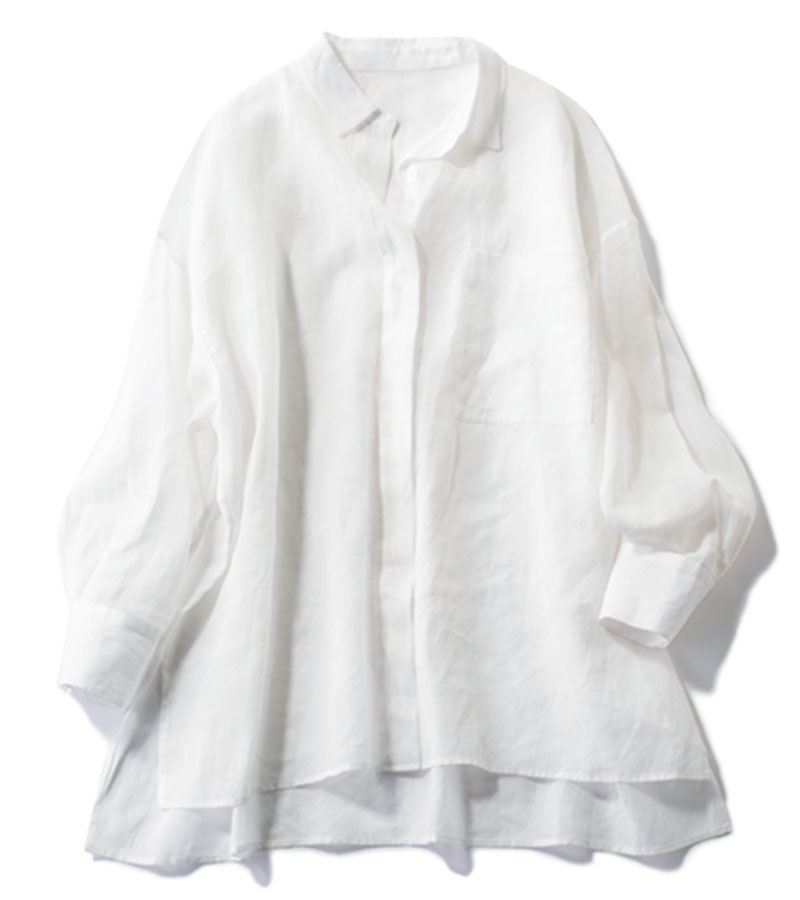 【10】シアーシャツ みんなをまとめる永遠のベーシック顔 どんなボトムスもピシッと締まる!¥28,600 (サクラ/インターリブ)