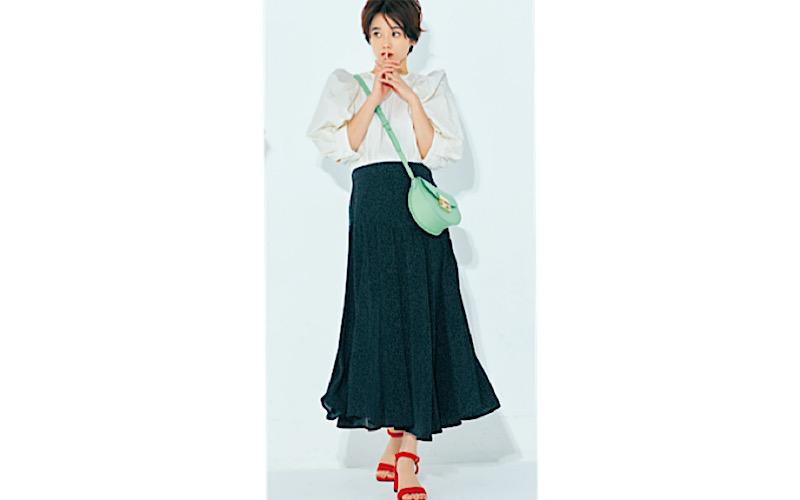 【今日の服装】梅雨に「フレアスカート」を選ぶなら?【アラサー女子】
