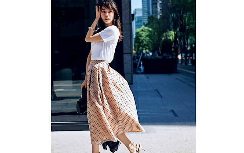 【今日の服装】梅雨どきの「スカートコーデ」って?【アラサー女子】