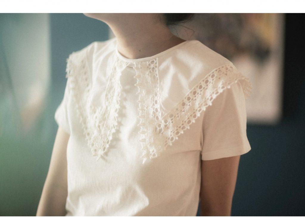 【ZARA本日からセール開催】身長154㎝だからこそ着られる「白襟Tシャツ」